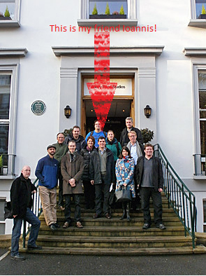 via arches website: Members of the Arches team and other colleagues took a break during meetings in London in November 2012 for a tour of historic Abbey Road Studios.