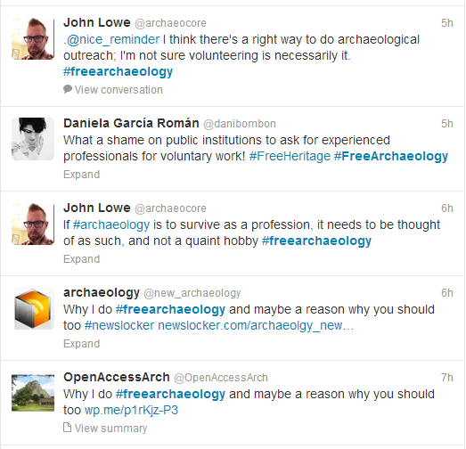 twitter free archaeology